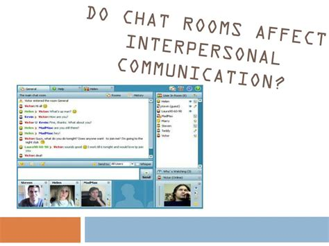 Chat Room Presenter by Ppt Does Communication Technology Interfere With