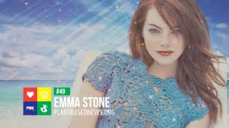 emma stone vegan revealed top 100 most influential vegans of 2017