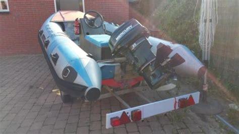 rubberboot met motor 25 pk rib rubberboot met mercury 25 pk hydrofoil incl trailer