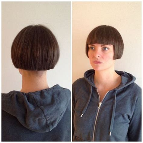 short hair with length at the nape of the neck 215 best sweet cuts images on pinterest short bobs bob