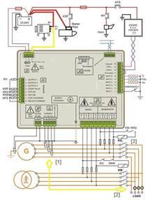 amf controller wiring diagram genset controller
