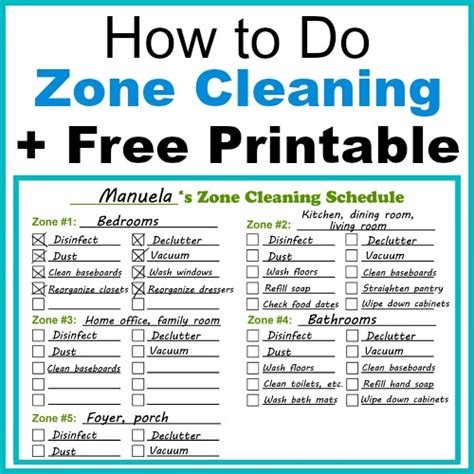 How To Get Your To With The Housework by How To Do Zone Cleaning Free Printable Zone Cleaning
