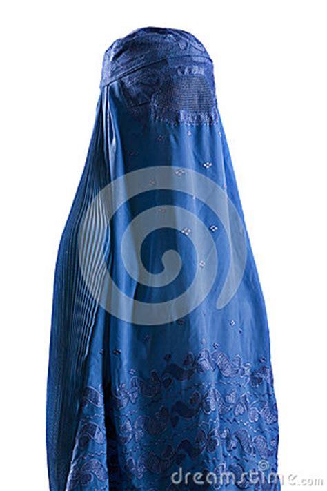 Blus Muslim White muslim blue burqa stock photo image 39698518