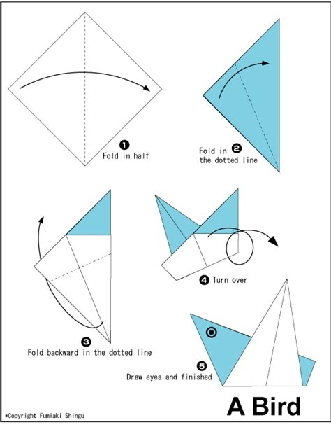 How To Make A Easy Paper Bird - origami a bird easy origami for