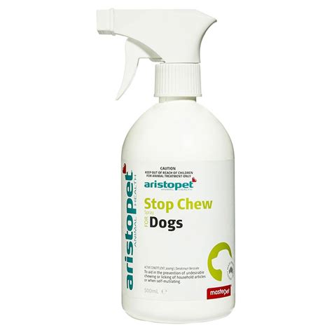 spray to stop from chewing aristopet stop chew spray for dogs 500ml petbarn