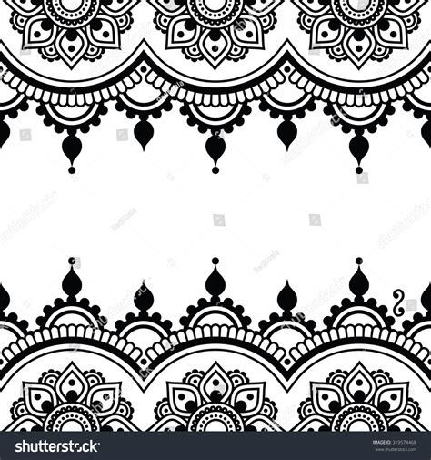 henna tattoo vector mehndi indian henna design greetings stock vector