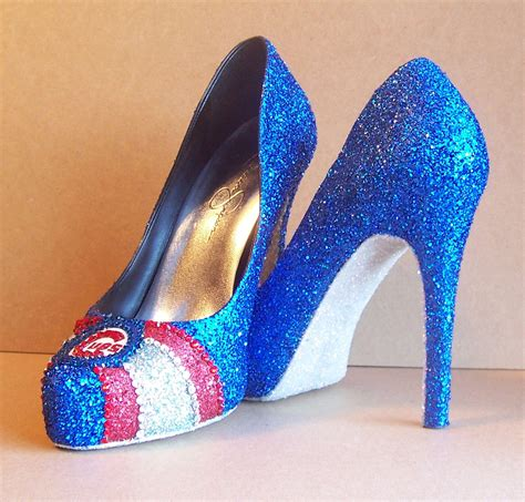 Handmade High Heels - custom cubs high heels reserved for erica alstine