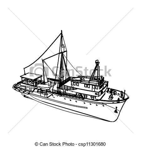 broken boat drawing fishing boat vector instant download csp11301680