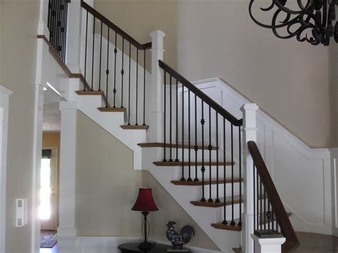 Oak Banister Makeover Innovative Wrought Iron Balusters Vogue Portland