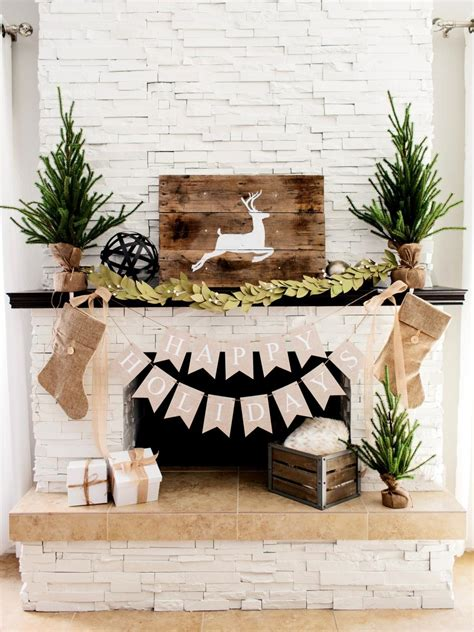 One Fireplace Mantel Decorated 3 Ways: Rustic, Traditional