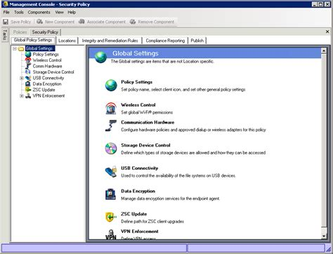management console novell doc zenworks endpoint security management