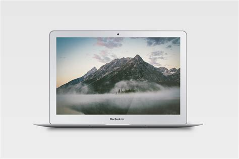 Macbook Air Maret realistic macbook air mockup product mockups on creative