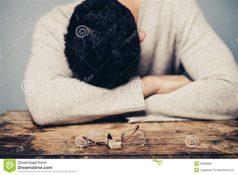 Broken Person Royalty Free Stock Photo Image 10975625 by Sad With Broken Glasses Is In Despair Royalty Free