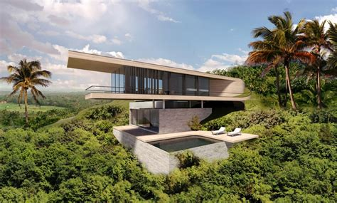 modern hill house designs bali house concept design e architect