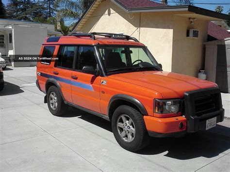 orange land rover discovery 2004 orange land rover discovery g4 lmited edition
