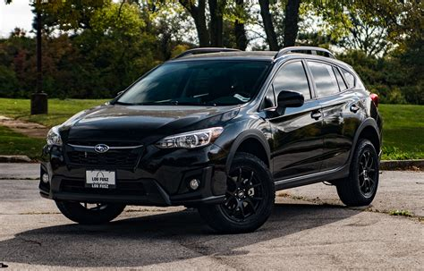 black subaru crosstrek subaru crosstrek lifted enkei package vip auto accessories