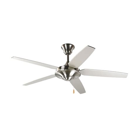 progress ceiling fans progress ceiling fan without light in brushed nickel finish p2530 09 destination lighting