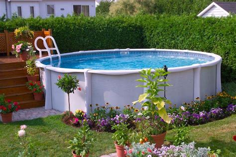Landscape Ideas For Above Ground Pool 17 Ways To Add Style To An Above Ground Pool Hgtv S