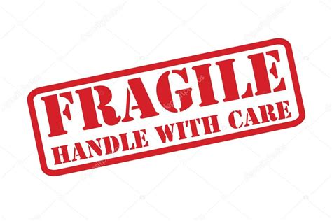 fragile rubber st fragile handle with care rubber st vector a