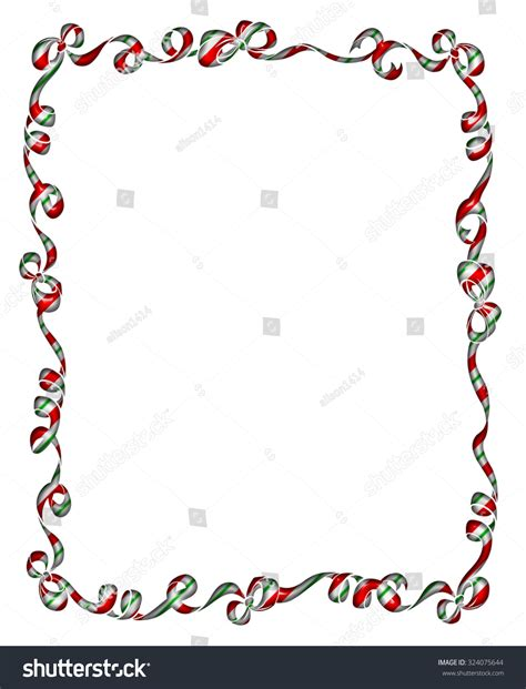 red stripe boarders christmas pretty frame border red green striped stock illustration