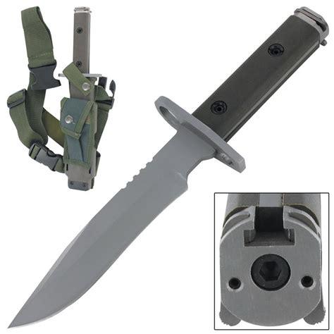 survival combat knife quarters combat ready bayonet survival bowie knife