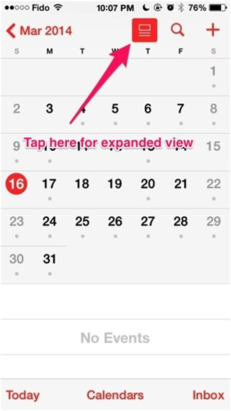 Iphone Calendar List View How To Find The Missing Calendar List View In Ios 7 1