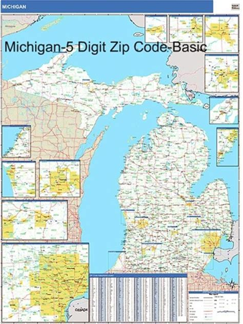 michigan zip code map michigan zip code map with wooden rails from onlyglobes