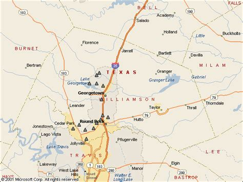 map of williamson county texas usgs water resources of the united states