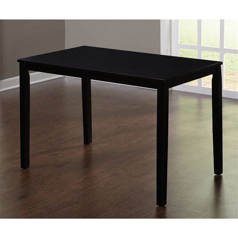 Black Table Furniture Louis Black Glass And Steel Dining Collection