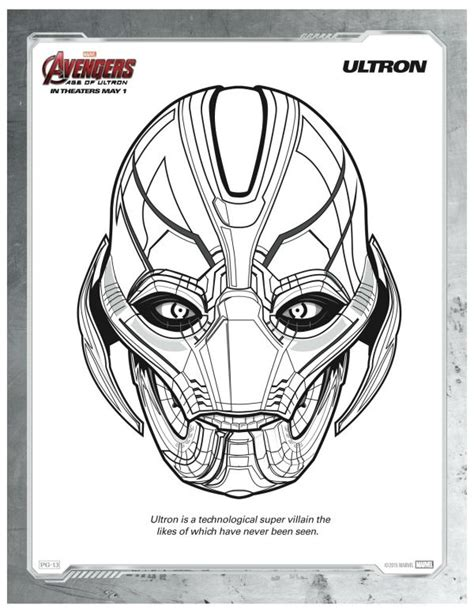 coloring pages avengers ultron 421 best images about maskeler on pinterest print