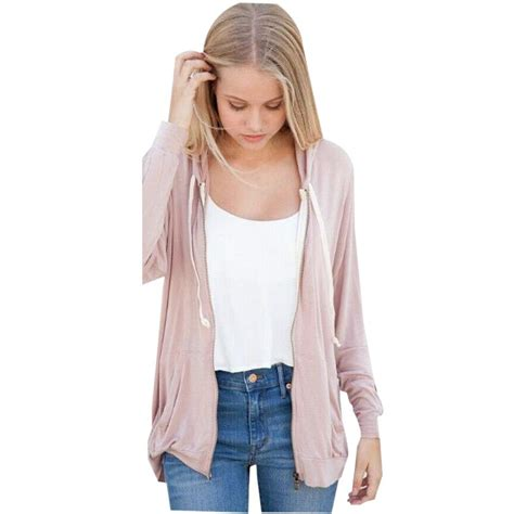 Black Casual Top 24643 front zipper s shirt black pink tracksuit casual sleeve top with pockets