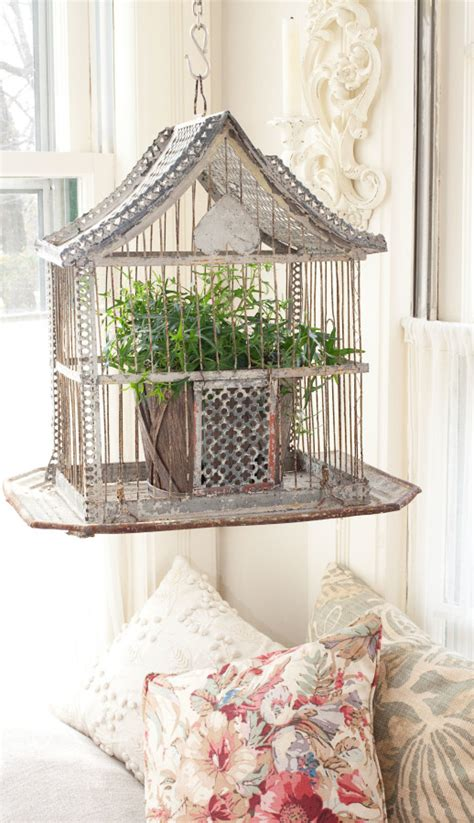 vintage bird cage planter carol spinski