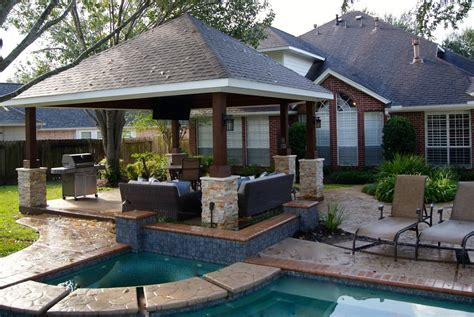 missouri city freestanding patio cover custom patios