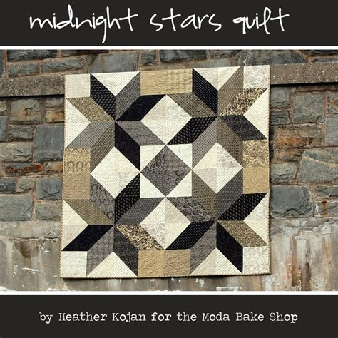 black and white star quilt pattern cabbage corner midnight stars quilt tutorial plus little