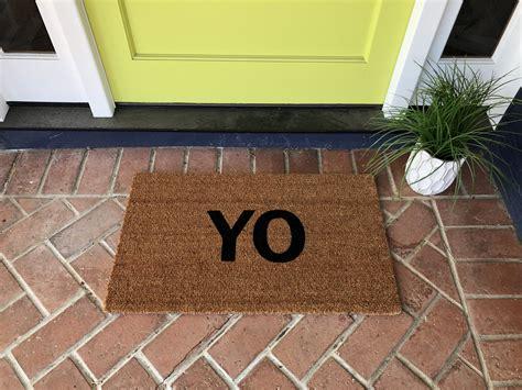 Doormat Modern by Modern Yo Outdoor Doormat Nickel Designs Custom Doormats
