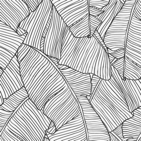 leaf pattern line the palms in white removable wallpaper palm leaves and