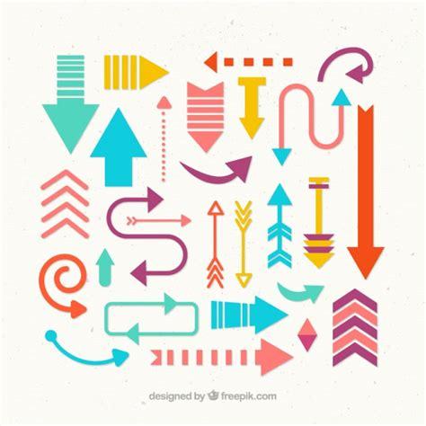 imagenes bonitas vectores colecci 243 n de flechas bonitas y coloridas descargar