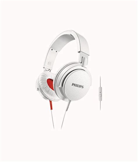 Best Seller Headphone Earphone Philips She 4305 With Mic Ori buy philips shl3105wt 00 ear dj style headphones white at best price in india