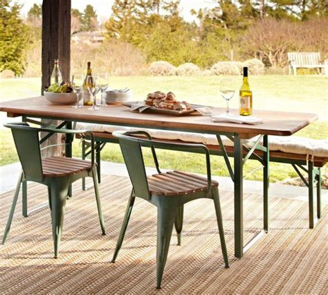 Pottery Barn Patio Table Tavern Rectangular Fixed Folding Dining Table Remodelista