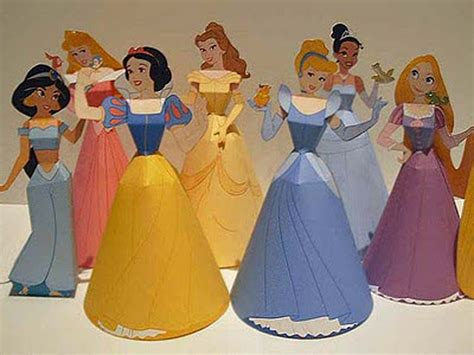 Disney Paper Crafts - pin disney 3d paper dolls canon crafts printable on
