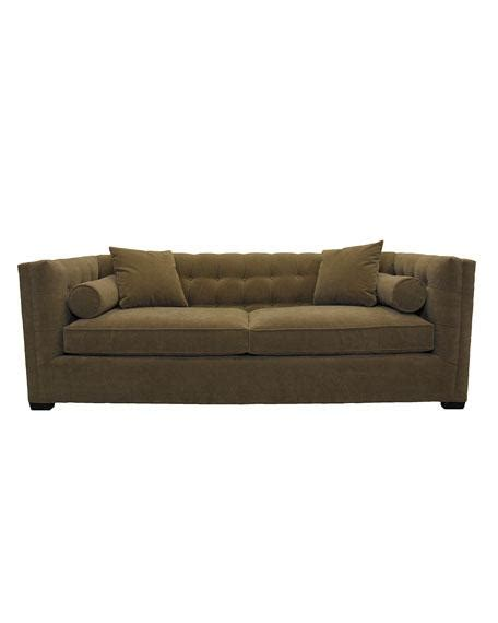 Brown Tufted Bolster Sofa Brown Tufted Sofa