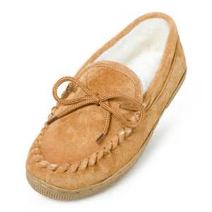 Moccasins Lamo Womens Suede Moccasin Slippers Chestnut Womens