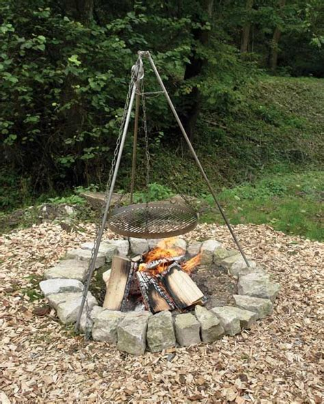 pit cooking tripod simple tripod fabrication transforms a cfire into