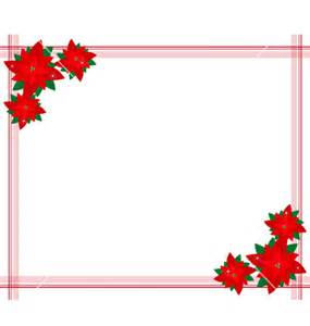 Poinsettia flowers forming a christmas border vector by iamnees