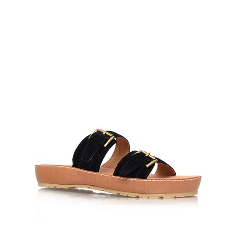 Studio Nine Flat Sandal Shoes nine west ticktock flat sandals in black lyst