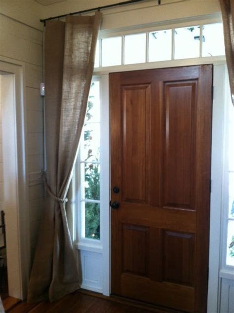 Front Door Curtain Rail Best 25 Front Door Curtains Ideas On Burlap Kitchen Curtains Curtain For Door