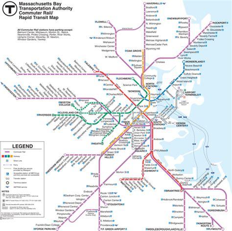 boston mbta map commuter rail map my