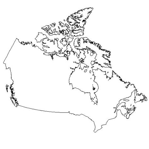 outline of canada clipart best