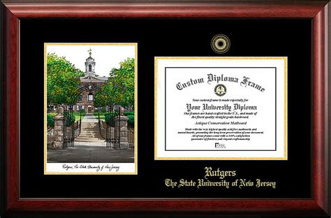 Rutgers Mba Diploma Frame by Rutgers Embossed Gold Foil Seal Graduate Diploma Frame