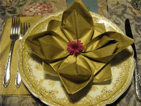 Napkin Origami Flower - serviette napkin folding maries pad variation lotus